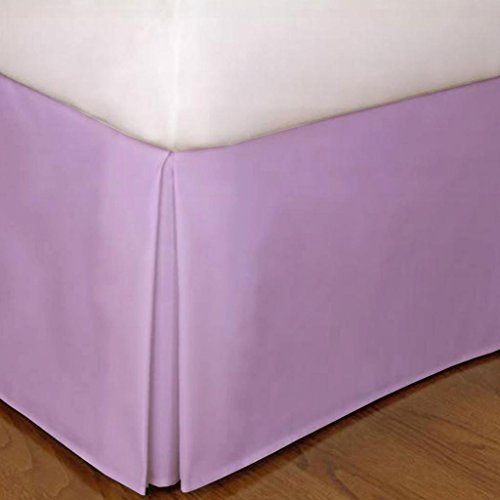 "650 Tc Egyptian Cotton 1X Bed Skirt For Rv'S, Campers, Bunk & Travel Trailers 27"" Drop Rv Bunk (42X80"") Lavendar Solid front-605782"