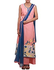 Kalki Fashion Straight Fit Suit Featuring In Peach Is Embellished In Resham Only On Kalki