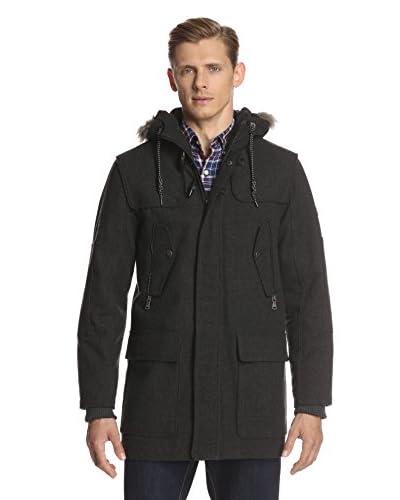 Sean John Men's Herringbone Snorkel Jacket