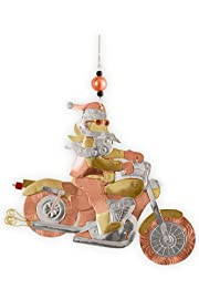 Pilgrim Imports Santa Motorcycle Metal Fair Trade Ornament