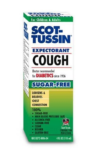 Scot-Tussin Cough Expectorant, Sugar- Free, 4 Ounces