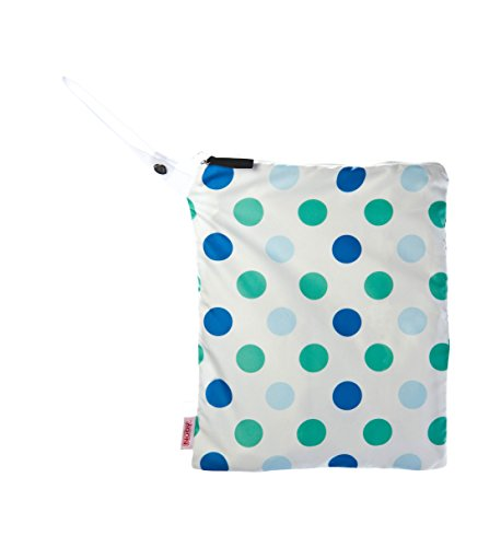 NUBY Washable Wet Bag, Blue Dots