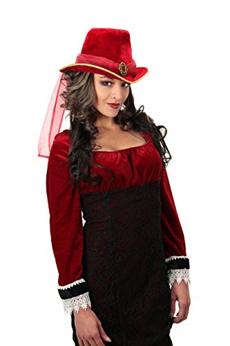 Red Victorian Top Hat Costume Accessory by elope