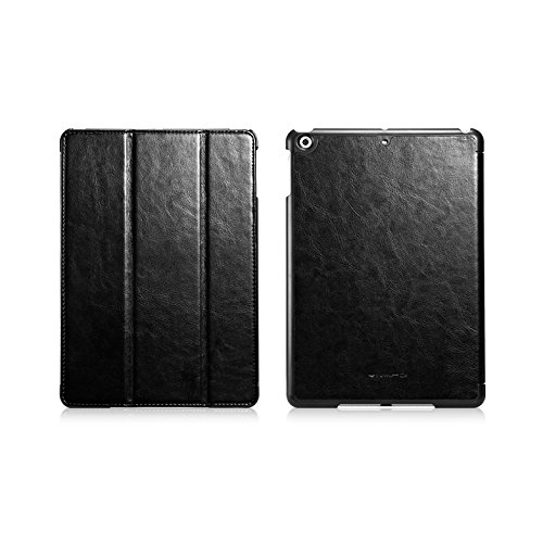 Ivapo Luxury Classic Vintage Folding Stand Function Auto Wake/Sleep Flip Cover Case For Ipad Air Ipad 5 (Mm461) (Black)