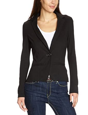 tom tailor denim damen blazer 39001400071 jersey blazer gr 34 xs schwarz 2999. Black Bedroom Furniture Sets. Home Design Ideas