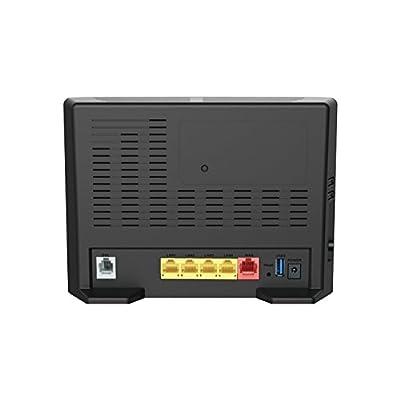 D-Link DSL-2877AL Dual Band Wireless AC750 ADSL2+ Modem Router (Black)