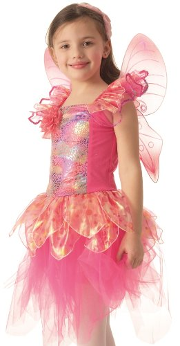 Kids Rose Fairy Pink Fairy Costume Dress and