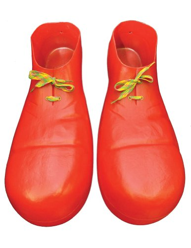 Costume-Footwear Clown Shoe 16 In Plastic Red Halloween Costume - 16 inches