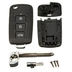 3 Button Folding Flip Remote Key Case Shell For HYUNDAI Elantra Sonata Genesis