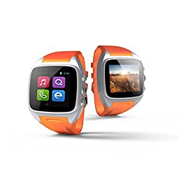 Hwnet 3G Android Watch With Wifi For Android (Full Functions) Samsung HTC Sony LG,iphone 5/5C/5S/6/6 Plus(Partial Functions) (Orange)