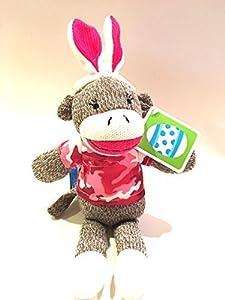 "12"" Dan Dee Camouflage Pink Sock Monkey Easter Bunny Stuffed Animal Plush Toy at 'Sock Monkeys'"