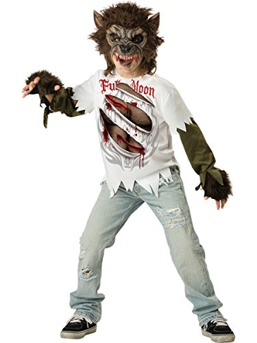 [InCharacter Costumes, LLC Boys Werewolf Mask and Shirt Set, Multi Color, X-Large] (Werewolf Costume Shirt)