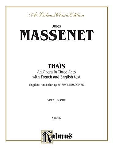 Thaïs Vocal Score  (Kalmus Edition)  [Jules Massenet] (Tapa Blanda)
