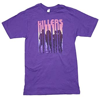 The Killers - Silhouettes Adult T-shirt, Size: X-Large, Color: Purple