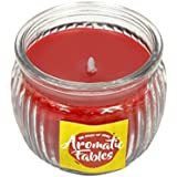 First Row Aromatic Fables 7oz Rose Fragrance Soy Wax Scented Decorative Gifting Red Color Round Glass Candle