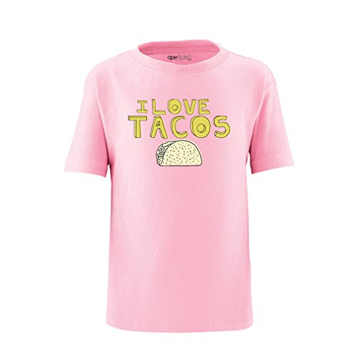 Apericots Funny I Love Tacos Toddler Tee With Taco Design Soft 100% Cotton (Pink Taco Shells compare prices)