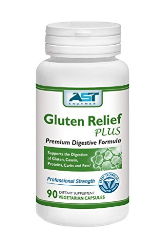 Gluten Relief Plus - 90 Vegetarian Capsules - Gluten Digestion Support - Premium Natural Digestive Enzyme Formula - Contains DPP-IV Enzyme Complex - AST Enzymes - 100% Satisfaction Guaranteed