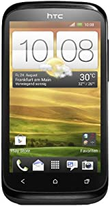 HTC Desire X Smartphone (1 GHz Dual-Core Prozessor, 10,2 cm (4 Zoll) Touchscreen, 5 Megapixel Kamera, 4 GB interner Speicher, microSD-Kartenslot, Android 4.0.4) stealth schwarz