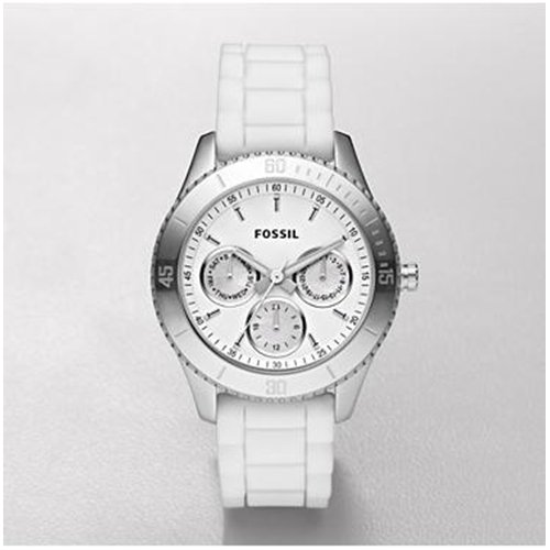 Fossil Stella Silicone Watch - White