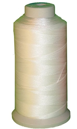 Bonded Nylon Sewing Thread 1500 Yard Size #69 T70 Color White for Outdoor, Leather, Bag, Shoes, Canvas, Upholstery