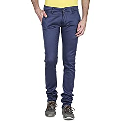 Mens Slim Fit BLUE Stretch Denim Jeans For Men Size 28