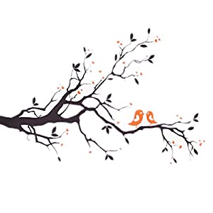 BeautyMall Wall Sticker With The Love Birds On A Branch by BeautyMall Co., LTD
