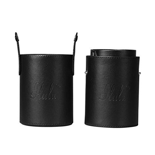 iLuLu Organiseur porte-brosse large de maquillage noir šC 2 compartiments