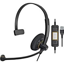 buy Single-Sided Monaural Sc30 Usb Ml Headset For Microsoft Lync With Noise Canceling Microphone - Black