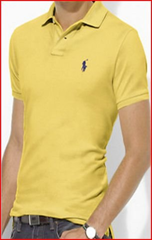 Ralph Lauren Mens Polo Shirt 4343976 Yellow (Medium)