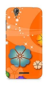 Amez designer printed 3d premium high quality back case cover for Acer Z630S (Abstract flowers christian)