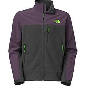 The North Face Apex Bionic Softshell Jacket - Men's Asphalt Grey/Dark Eggplant Purple, L from The North Face