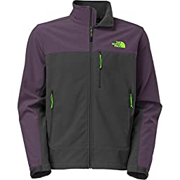 The North Face Apex Bionic Softshell Jacket - Men\'s Asphalt Grey/Dark Eggplant Purple, M