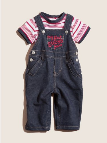 "Guess ""Fun Ahead"" 2-Piece Outfit (Sizes 0M - 9M) - indigo, 3 - 6 months"