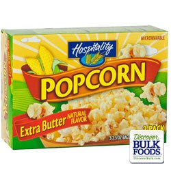 Microwave Extra Butter Popcorn From Hospitality 3.5Oz Pack - Case Of 36