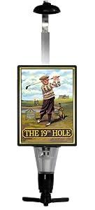 19TH HOLE GOLF Traditional British Pub Sign OPTIC & SPIRIT MEASURE SET