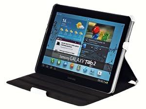 UltraSlim Case für Samsung Galaxy Tab 2 10.1 P5100 5110 WiFi Ledertasche Schutzhülle Etui aus echtem Leder mit Standfunktion in Weiß