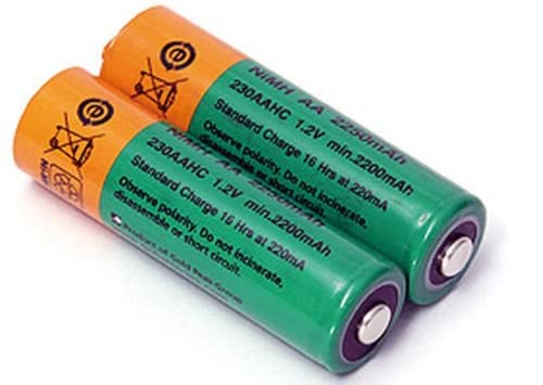 キャットアイ(CAT EYE) ヘッドライト HL-EL340RC/HL-EL340専用 ニッケル水素充電池 2本セット 534-1890