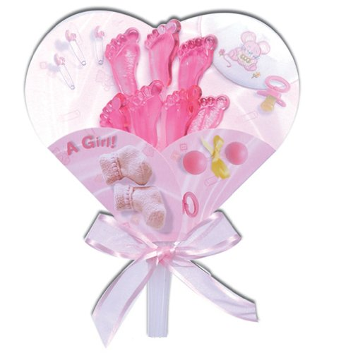 It'S A Girl Card & Twinkle Candy, Pack Of 6