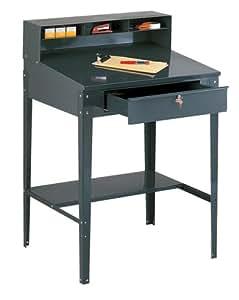 Edsal 620 34-1/2-Inch Wide by 30-Inch Deep by 53-Inch High Open Shop Desk Shippers Desk, Grey