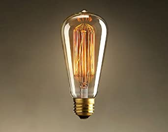 Antique Nostalgic Squirrel Cage Filament Bulb Reproduction