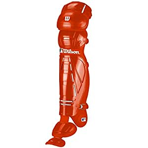 Wilson Pro Stock Hinge FX 2.0 Baseball Catcher's Leg Guards (Navy, 13-Inch)