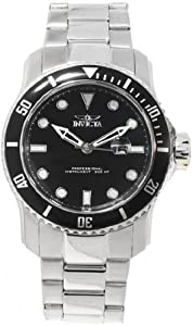 Invicta Men's 15075 Pro Diver Quartz 3 Hand Black Dial Watch