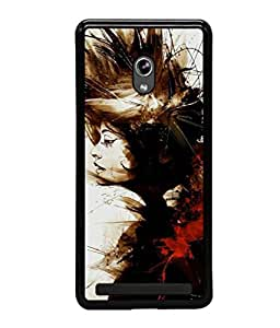 printtech Girl Awesome Pattern Back Case Cover for Asus Zenfone 6 A600CG