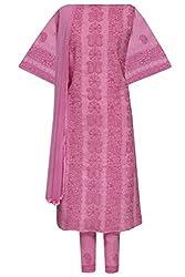ADA Equisite Lucknow Chikankari Ethnic Wear Unstitched Suit Piece A108618