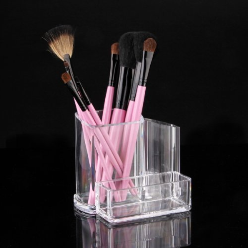 Bluboon(Tm) Clear Acrylic Desk Cosmetic Lipstick Brush Holder Makeup Storage Case