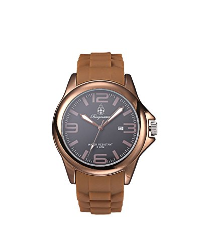 Burgmeister Fun Time Women's Quartz Watch with Black Dial Analogue Display and Brown Silicone Strap BM166-095