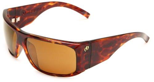 Electric Visual Jailbreak Polarized Wrap Sunglasses,Tortoise Shell Frame/Ve Bronze Polar Lens,One Size
