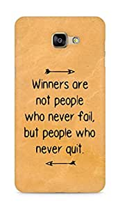 AMEZ but people who never quit Back Cover For Samsung Galaxy A9