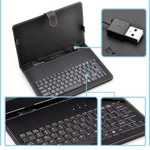Clavier housse etui support noir compatibilite universel - Etui clavier tablette 10 pouces ...