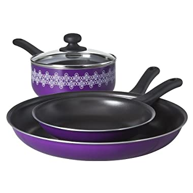 Chefmate Purple 4pc Cookware Set